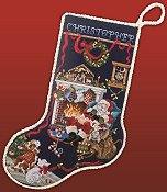Sleepy Santa Stocking (E-Delivery)