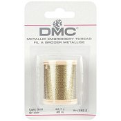 DMC Metallic Thread 282Z Light Gold_THUMBNAIL