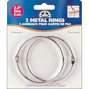 "DMC Metal Craft Rings 2.5"" THUMBNAIL"
