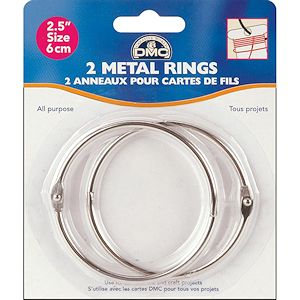 "DMC Metal Craft Rings 2.5"" MAIN"