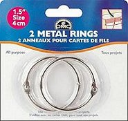 "DMC Metal Craft Rings 1.5"" THUMBNAIL"