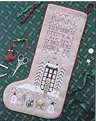 The Drawn Thread - Christmas Dreams Stocking THUMBNAIL