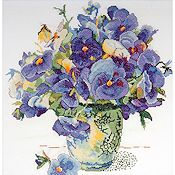 Design Works Kit - Pansy Floral THUMBNAIL