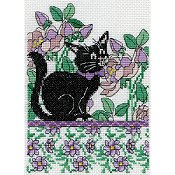 Design Works - Floral Cat Lilac