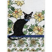 Design Works - Floral Cat Yellow