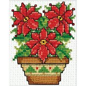 Design Works - Mini Frame Kit - Poinsettias