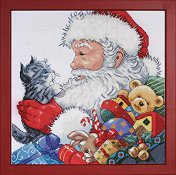 Design Works - Santa & Kitten Picture