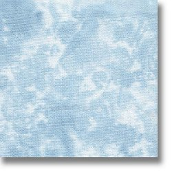 swatch of 28ct blue sky Stoney Creek dyed fabric MAIN