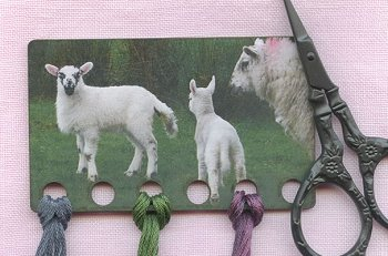 Vintage Postcard Series #18 - Easter Lambs Threadkeep MAIN