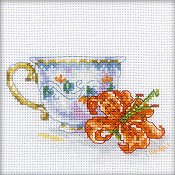 RTO Cross Stitch Kit - Miniature Lily Cup Tea Party