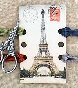 Vintage Postcard Series - Eiffel Tower Threadkeep