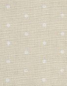 Fabric Flair French Polka Dots 32ct Natural/White