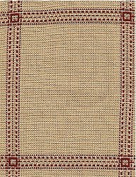 Fireside Afghan 18ct Beige/Red MAIN