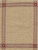 Fireside Afghan 18ct Beige/Red