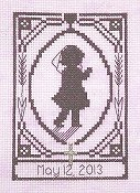 Handblessings - Special Memories Silhouette - First Communion Girl