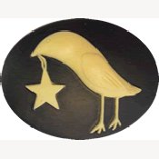 Kelmscott Designs Needle Minder - Folkart Crow w/ Star THUMBNAIL