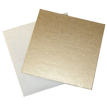 "Silver Metallic Mat Board & Batting - 3 1/2"" Square THUMBNAIL"