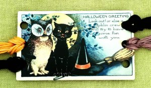 Vintage Postcard Series #9 - Halloween Greetings Threadkeep MAIN
