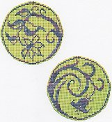 Handblessings - Circle Ornaments - Elegant Spring Lilly and Daisy