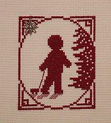 Handblessings - Christmas Memories Silhouette - Little Boy with Pull Toy THUMBNAIL