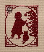 Handblessings - Christmas Memories Silhouette - Little Girl with Ornament THUMBNAIL