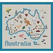Sue Hillis Designs - Map of Australia