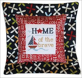 Pine Mountain Designs - Flange Pillow Sham - Home of the Brave MAIN