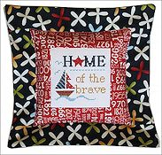 Pine Mountain Designs - Flange Pillow Sham - Home of the Brave THUMBNAIL