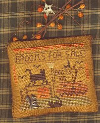Homespun Elegance - A Halloween Year - November - Brooms For Sale