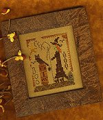 Homespun Elegance - A Halloween Year - October - Stitching Witch