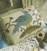 Homespun Elegance - Bird N Blossoms Pin Cushion