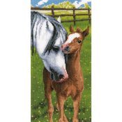Vervaco Cross Stitch Kit - Horse & Foal THUMBNAIL