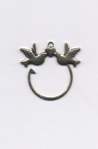Charm - Antique Silver Doves MAIN