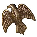 Antique Gold Eagle Charm