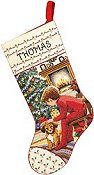 Janlynn Cross Stitch Kit - Waiting For Santa Stocking