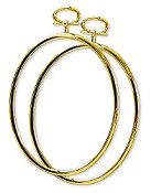 "Stitch A Frame - 4.25"" Oval Gold"