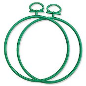 "Stitch A Frame - 3.75"" Round Green"