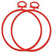 "Stitch A Frame - 3.75"" Round Red"