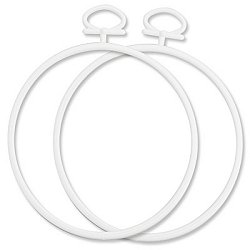 "Stitch A Frame - 3.75"" Round White MAIN"