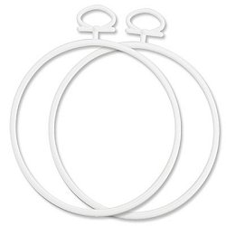 "Stitch A Frame - 2.5"" Round Mini White MAIN"