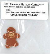 Jabco Button Pack - Country Cottage Needleworks - #2 Gingerbread Girl & Peppermint Tree