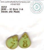 Jabco Button Pack - Hands On Design - 12 Days - Swans & Maids