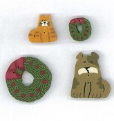 Jabco Button Pack - Faithwurks Designs - Christmas Shadowbox Mystery THUMBNAIL