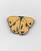 Jabco Button - Yellow Butterfly Button THUMBNAIL