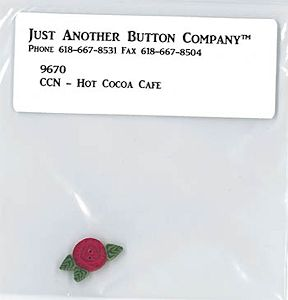 Jabco Button Pack - Country Cottage Needleworks - Santa's Village - Hot Cocoa Cafe MAIN