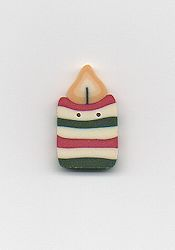 Jabco Button - 4509 Holiday Candle MAIN