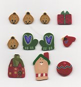 Jabco Button Pack - Raise the Roof Designs - Santa Clothes