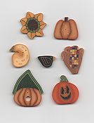 Jabco Button Pack - Glitter Gulch Needlework - Autumn Harvest THUMBNAIL