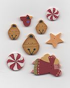 Jabco Button Pack - Glitter Gulch Needlework - Winter Holidays