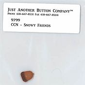 Jabco Button Pack - Country Cottage Needleworks - Frosty Forest 4 - Snowy Friends